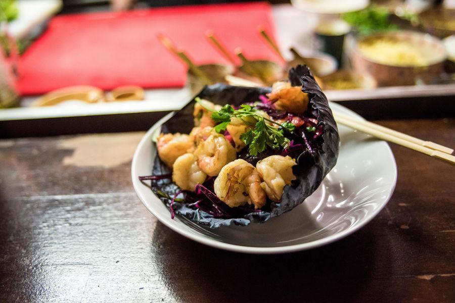 Mumbai Cafe wok de crevettes