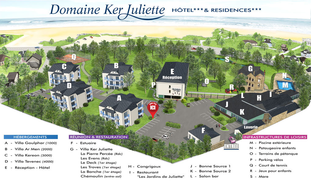 Domaine Ker Juliette*** Plan