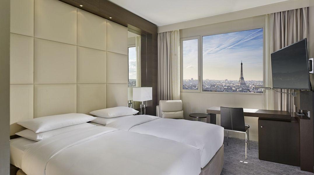 Hôtel Hyatt Regency Paris Étoile **** Standard Twin vue Tour Eiffel