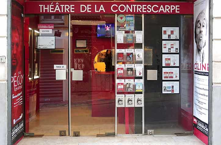 Le Théâtre de la Contrescarpe Devanture Théâtre de la Contrescarpe