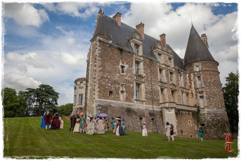 Château de Courtalain chateau vue arrière