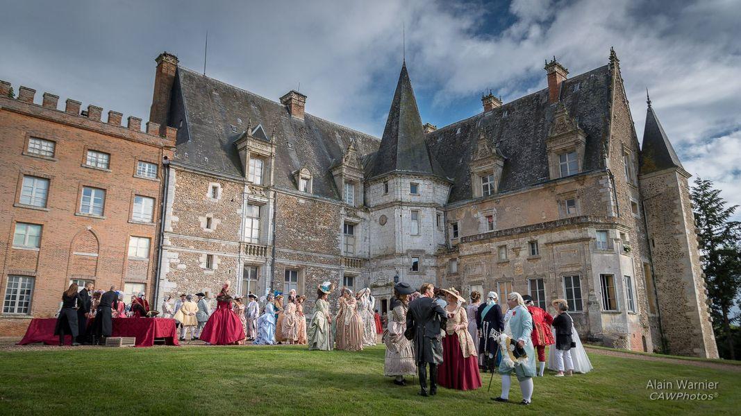 Château de Courtalain cour d'honneur du château