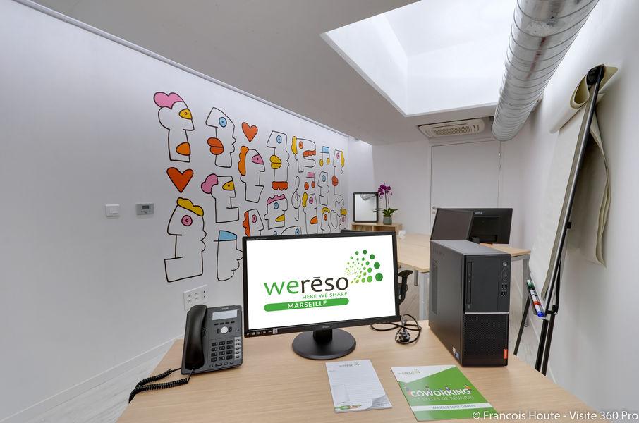 Weréso Marseille Saint-Charles Bureau privatif 3 postes - Churmo
