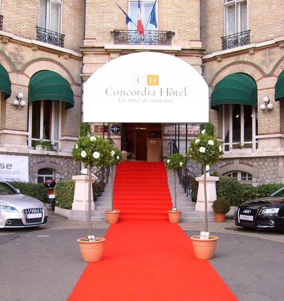 Hôtel Concordia Le Mans Centre Gare Façade