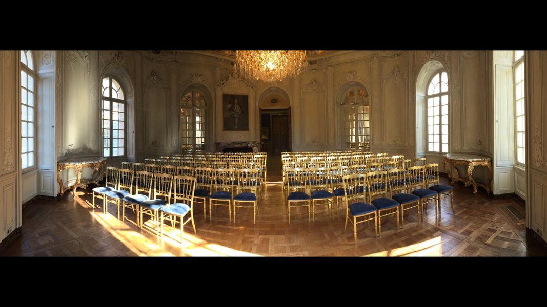 Auberge du Jeu de Paume Chantilly, Relais & Châteaux ***** La Maison de Sylvie (salle Rotonde en théâtre)