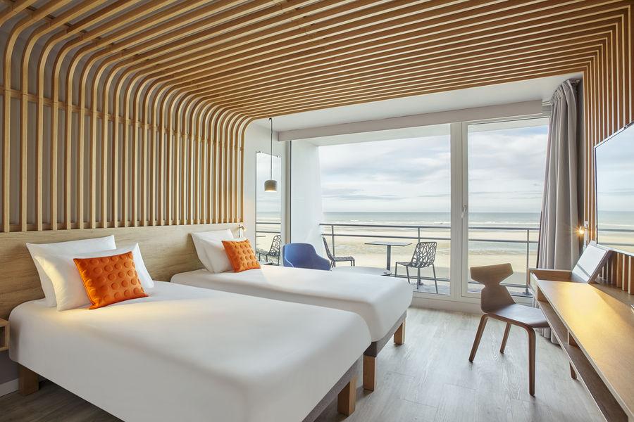 Novotel Thalassa Le Touquet **** Chambre supérieure twin côté mer avec balcon