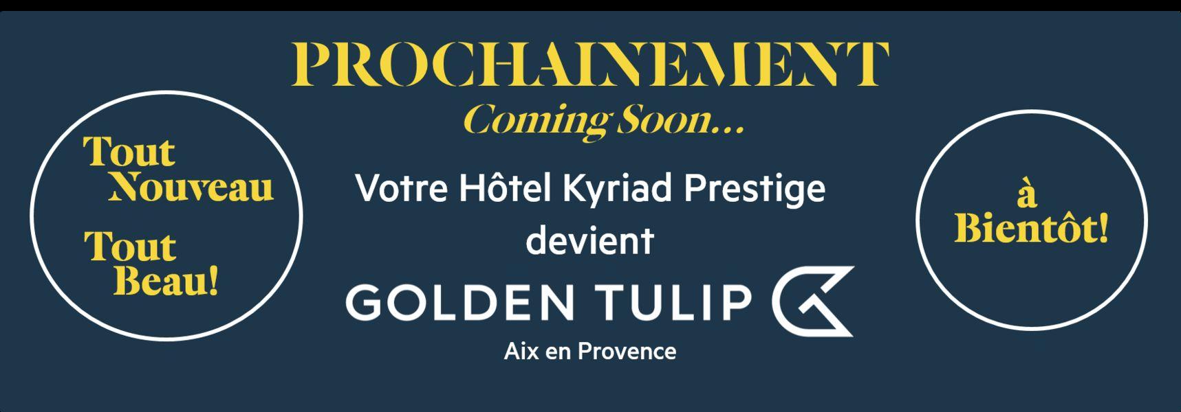 Kyriad Prestige***  Devient GOLDEN TULIP Aix en Provence*** Kyriad Prestige***  Devient GOLDEN TULIP Aix en Provence***