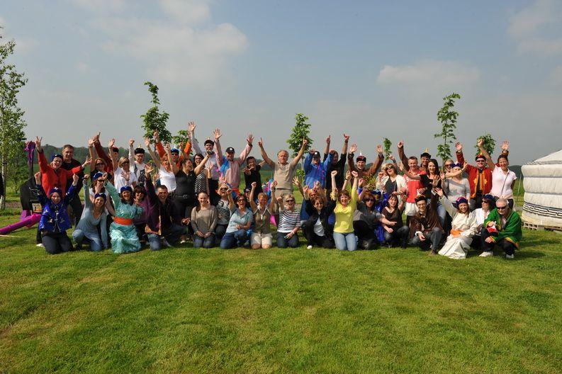 Nomade Lodge Cohésion de groupe ! l'enthousiasme !!