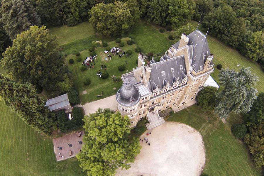 Château de Méridon Vue du ciel