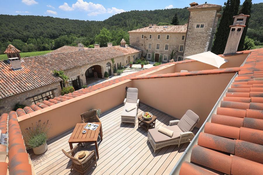 Château de Berne Hôtel & Spa ***** Terrasse d'une Junior Suite