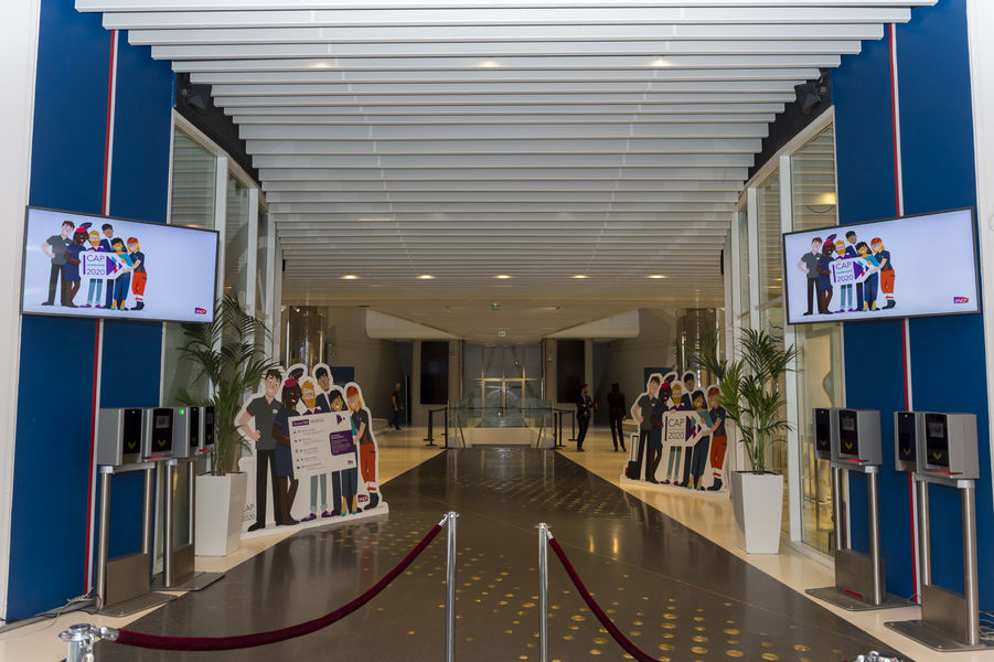 Parc des Princes Entrée en Atrium du Parc des Princes - Hall d'accueil des participants / Tribune Borelli