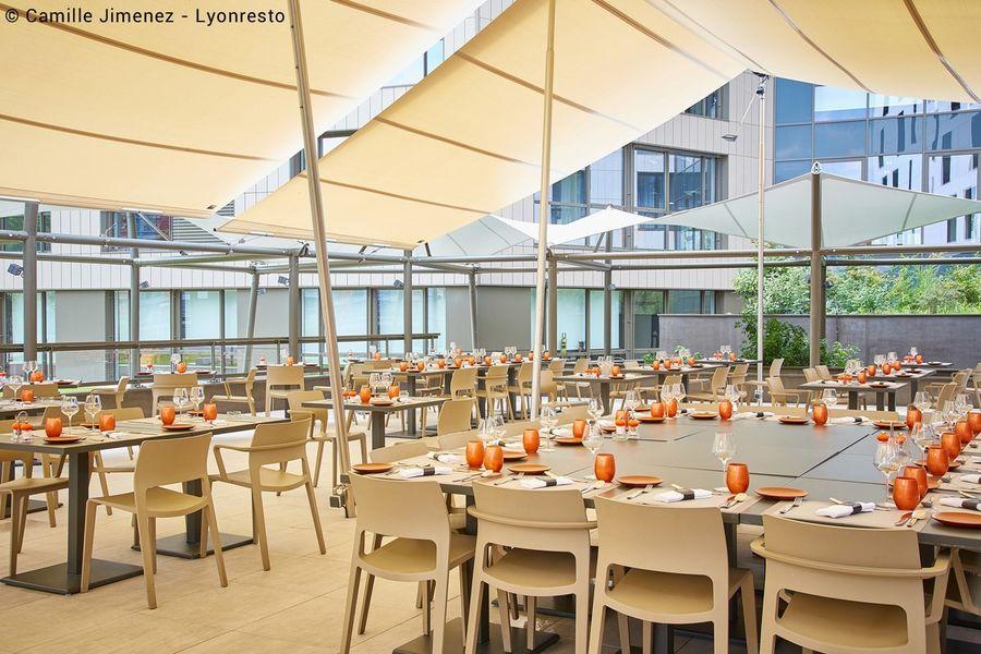 Hôtel ParkSaône terrasse