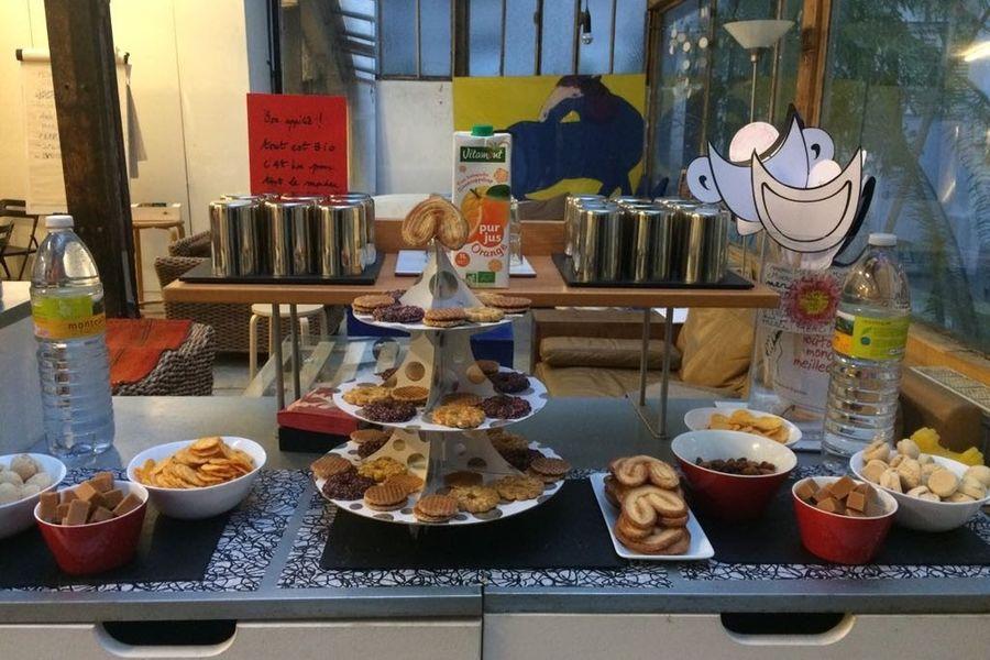 """Atelier Fil Rouge   Pause Open bistrot """"biscuiterie thé/café a volonté'"""