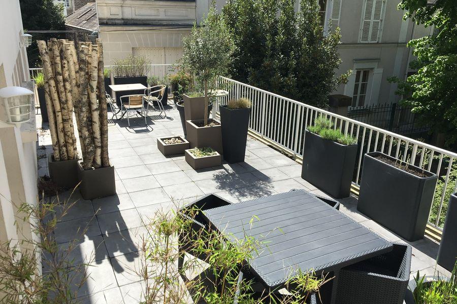 Salons 8ème Sens - Angers Béclard Salle verte - terrasse