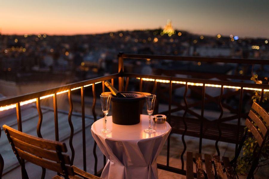 Rooftop Solarium  Diner à 2