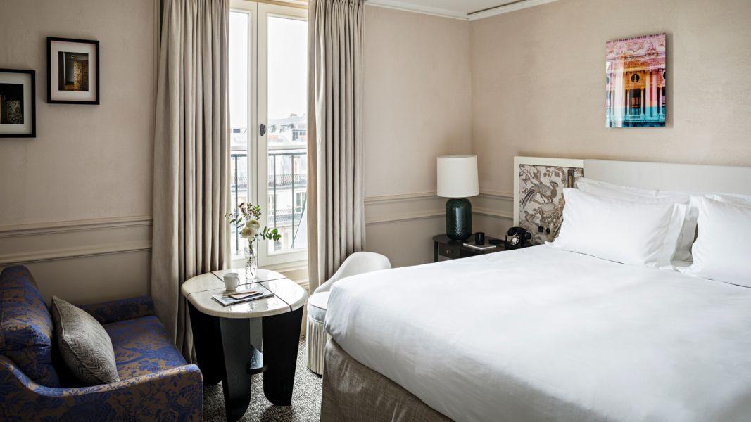 Le Scribe Paris  bedroom