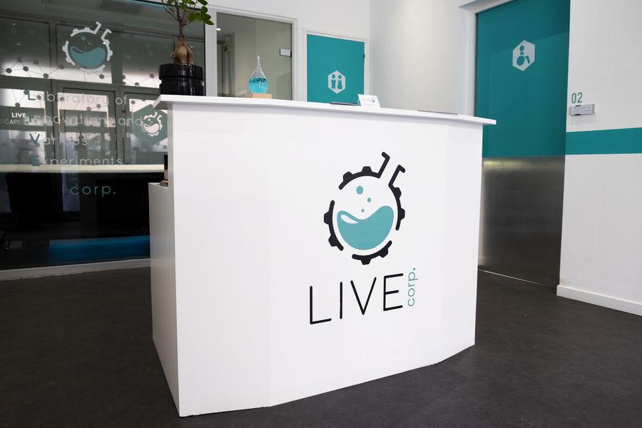 LIVE Corp Entrée de LIVE Corp. Escape Game