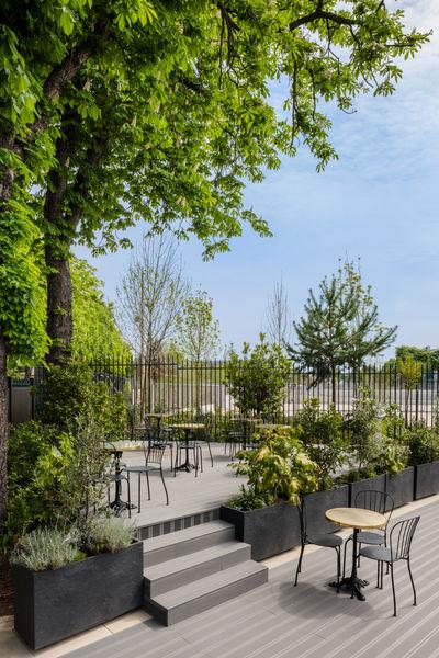Pavillon des Princes Terrasse côté Roland Garros