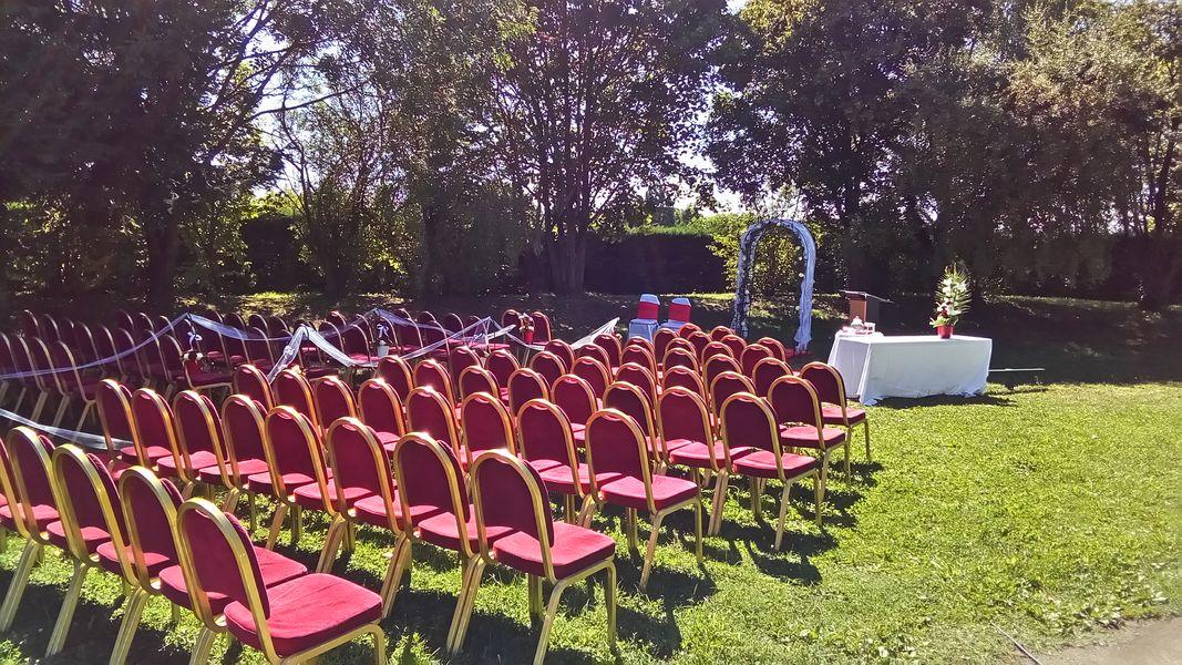 Hôtel Mercure Lyon L'Isle d'Abeau **** cérémonie laïque dans notre parc