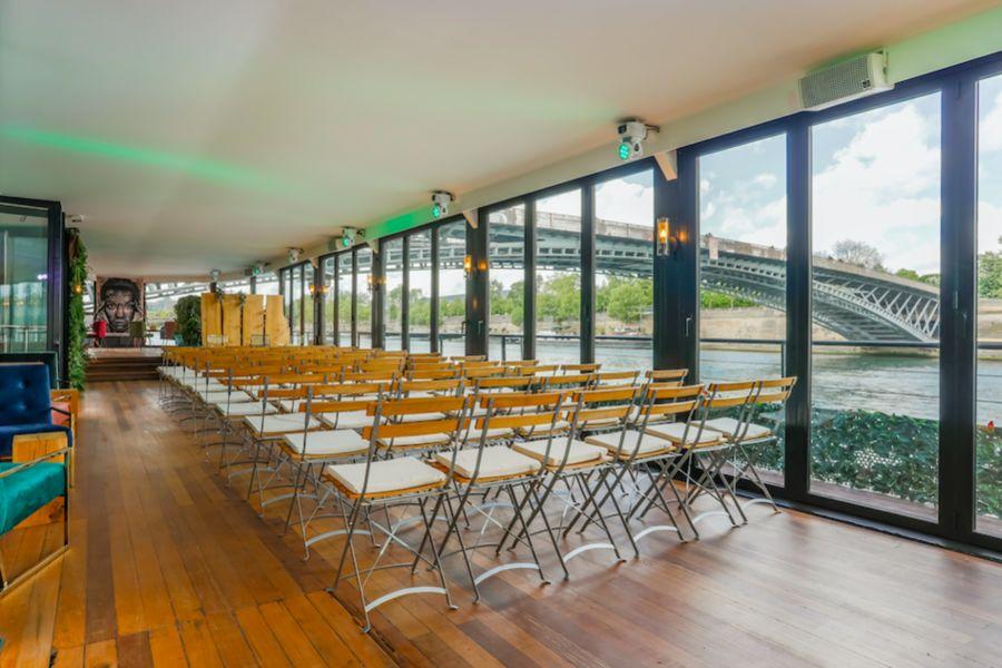 La Pause Parisienne Configuration Conférence ( capacité 110 max )