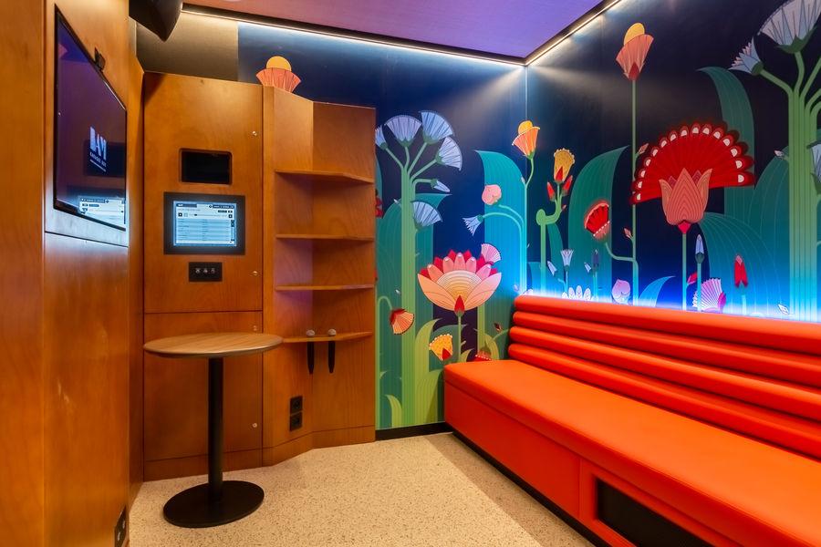 BAM Karaoke Box Chartrons Salles de travail en groupe avec écran de projection