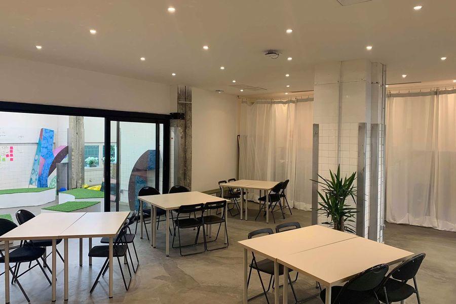 The Sun Project AGORA Creative room+ Learning Room + Nomad Café