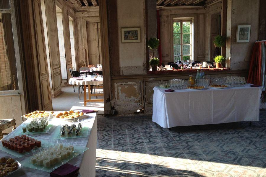 Domaine de Toussacq Buffet dans le chateau