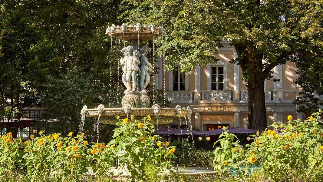 Restaurant Laurent vue du jardin