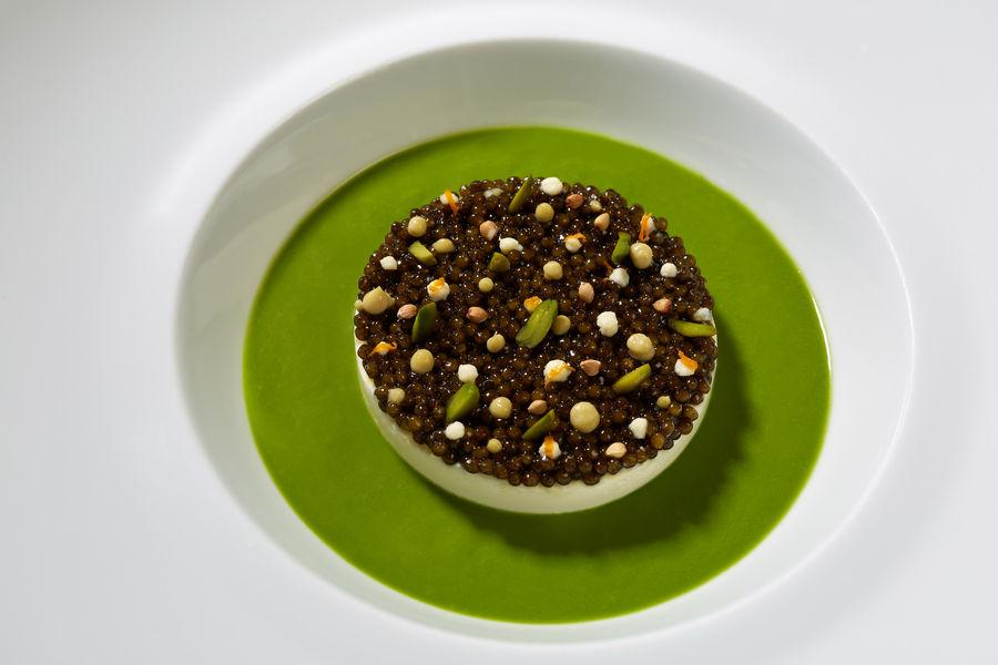 Restaurant Laurent Blanc manger de langoustine, caviar impérial de Sologne