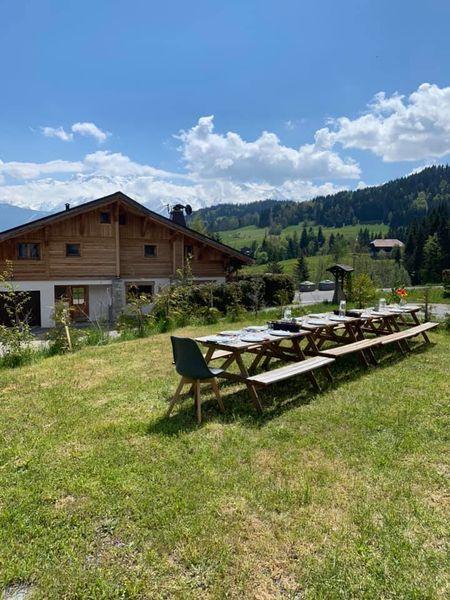 Le Chalet La Terrasse du Mont-Blanc jardin