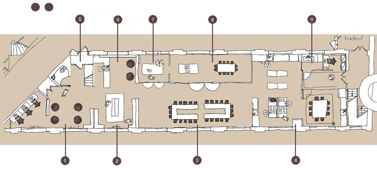 KITCHEN STUDIO Plan du loft