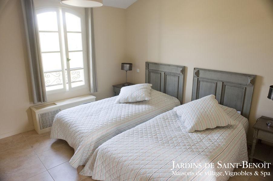 Les Jardins de Saint Benoît Chambre twin