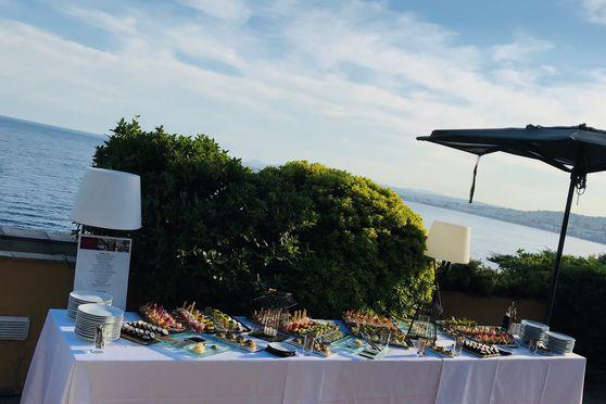 Cocktail sur le toit terrasse