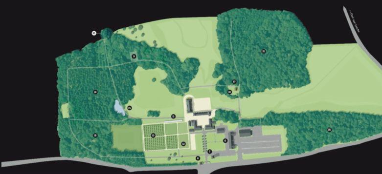 Domaine du Château des Pères Plan du domaine