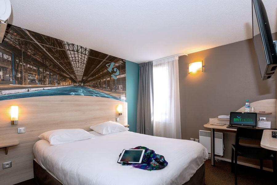 Brit Hotel  La Rochelle – La Brasserie du Cap *** Chambre du Brit Hotel La Rochelle – La Brasserie du Cap ***
