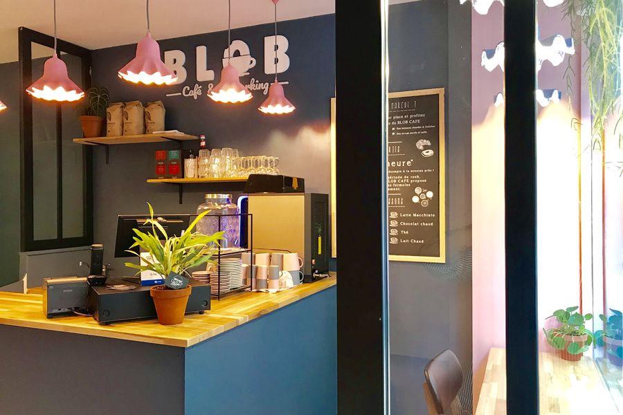Blob Café Comptoir d'accueil