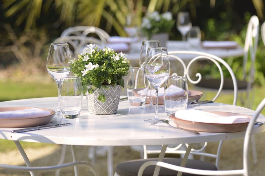 Château la Chenevière ***** Restaurant le petit jardin