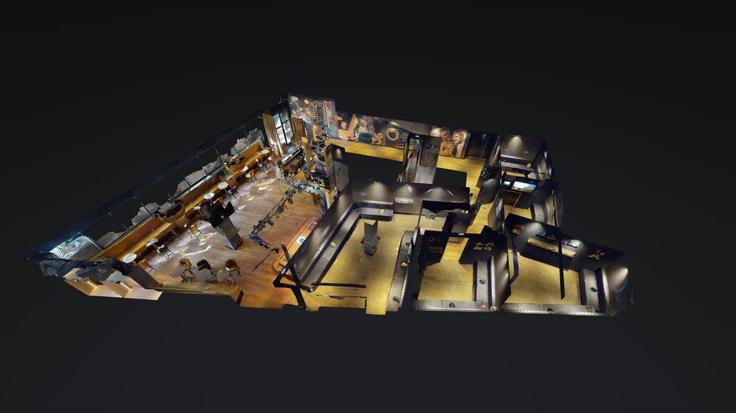 Singing Studio - Paris Plan 3D, Salle de réception + 5 studios privatifs de karaoké