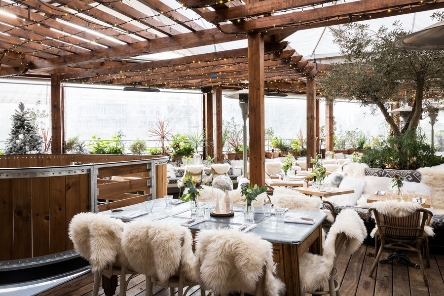 Auteuil Brasserie Rooftop hivernal