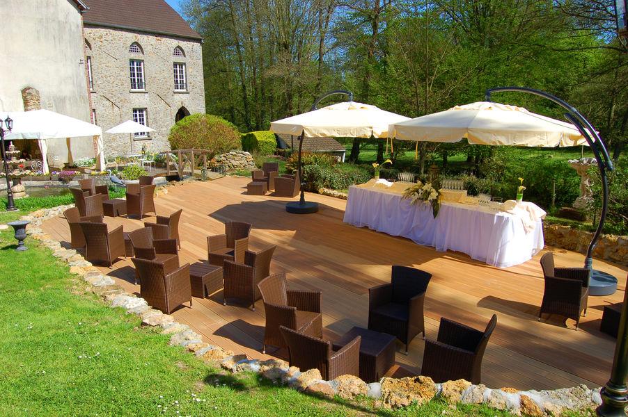 Prieuré de Saint-Cyr terrasse pour cocktail