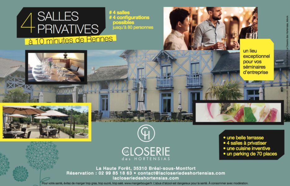 La Closerie des Hortensias 4 salles privatives