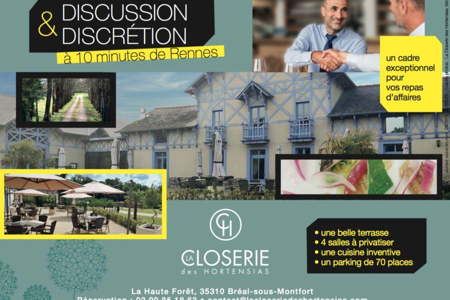La Closerie des Hortensias Discussion et discretion