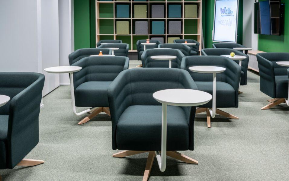 Wellio Paris Montmartre Salle de réunion modulable pour 15 personnes - Green 1