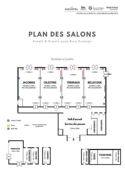 Novotel Lyon Bron Eurexpo **** PLAN SALONS