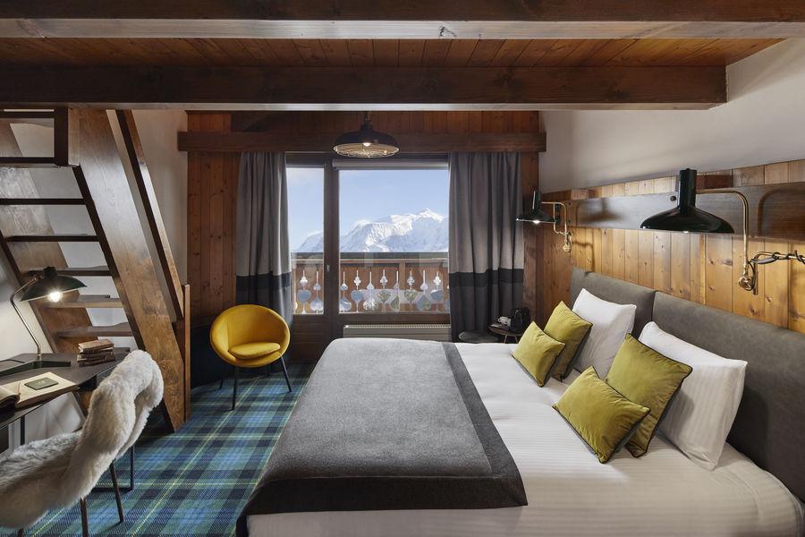 Chalet Hôtel Alpen Valley, Mont-Blanc Chambre Cabance vue Mont-Blanc
