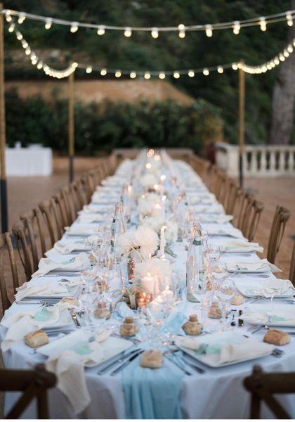 Domaine de Canaille Exemple d'une table dressée lors d'un événement