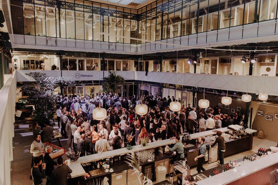 Halle Héméra L'Atrium privatisé pour un cocktail pro de 300 personnes