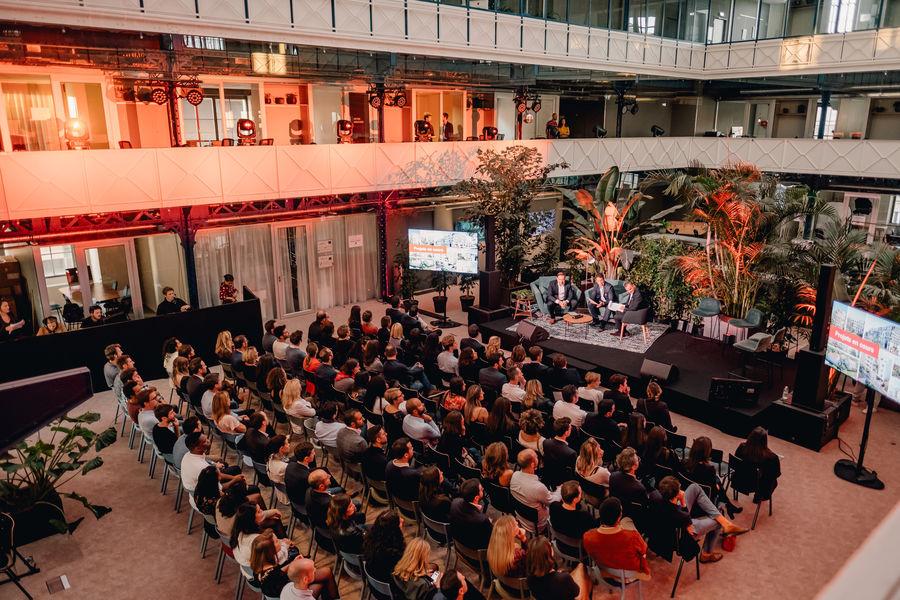 Halle Héméra L'Atrium privatisé pour une soirée d'entreprise de 150 personnes