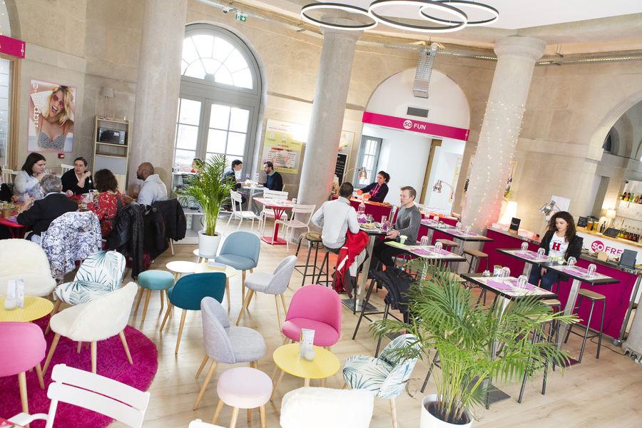 La source -Concept store Rotonde en mode restaurant