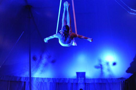Le Chapiteau de Cirque de Bordeaux Artiste du Cirque - Tissu aérien